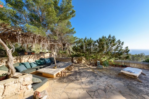 chillout area-incredible property-fabulous panoramic views-Es Vedra