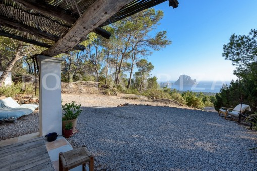 incredible guesthouse view to Es Vedra