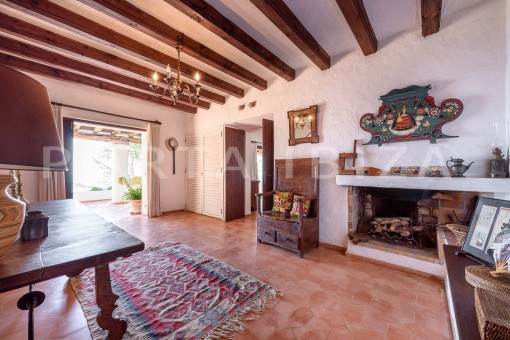living & fireplace-incredible property-fabulous panoramic views-Es Vedra