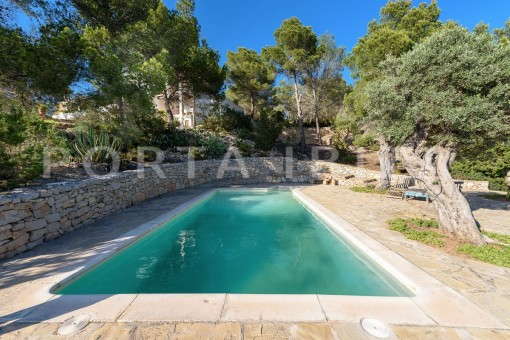 pool & garden-incredible property-fabulous panoramic views-Es Vedra