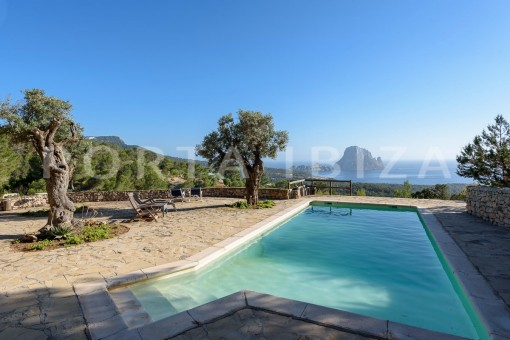 pool area-incredible property-fabulous panoramic views-Es Vedra