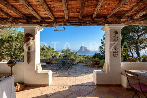 terrace view-incredible property-Es Vedra