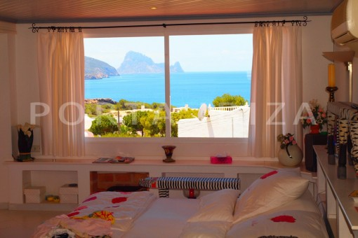 bedroom view-charming house-Cala Codolar-views to Es Vedra