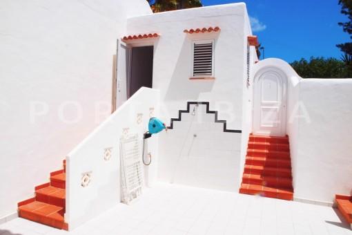 entrance apartment-charming house-Cala Codolar-views to Es Vedra