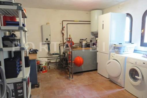 boiler room-wonderful house at Can Germa-great sea view