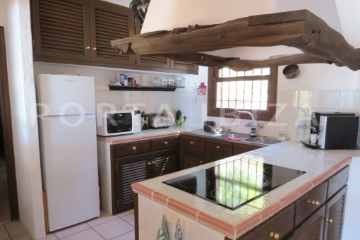 kitchen-wonderful house at Can Germa-great sea view