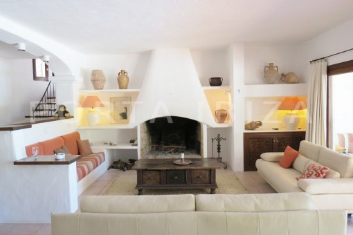 living area-wonderful house at Can Germa-great sea view