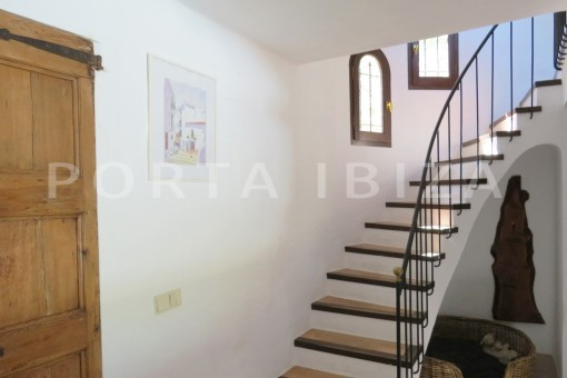 stairs to 1st floor-wonderful house at Can Germa-great sea view