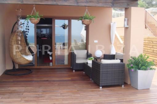 terrace-fabulous house-fantastic sea views-pool-Cala Moli