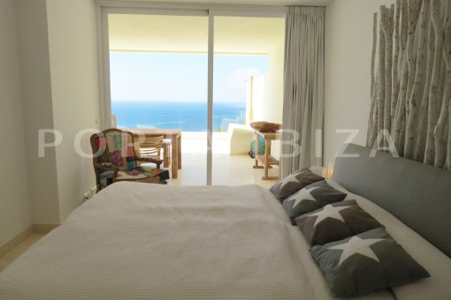 bedroom view-marvelous modern apartment-breathtaking sea view