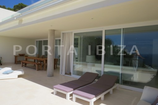chillout terrace-marvelous modern apartment-breathtaking sea view