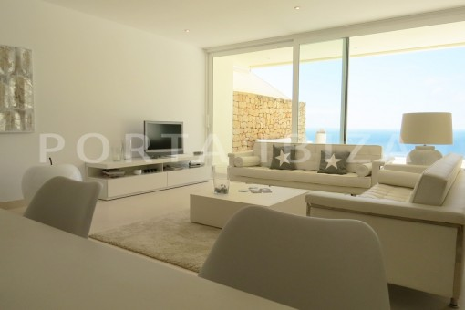 living area-marvelous modern apartment with breathtaking sea view