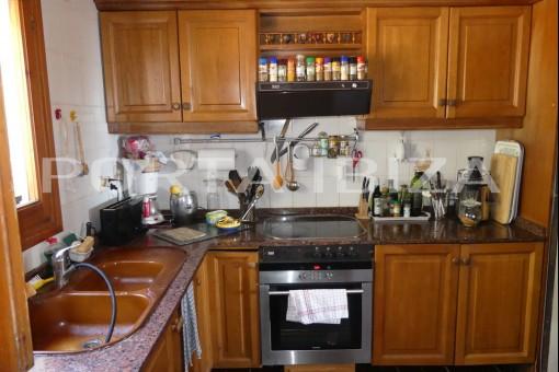kitchen cala tarida villa