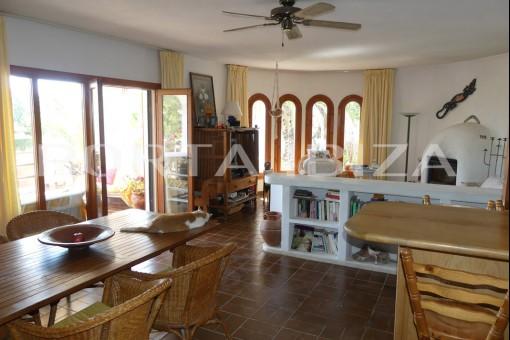 living room villa cala tarida
