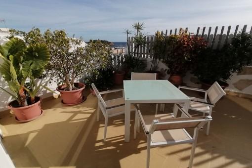 Penthouse in Santa Eulalia del Río mit beeindruckendem Meerblick