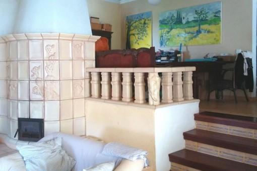Zweiter Wohnberich mit Kamin