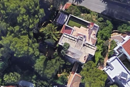 Das Haus aus der Vogelperspektive