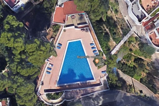 Poolbereich des Hauses
