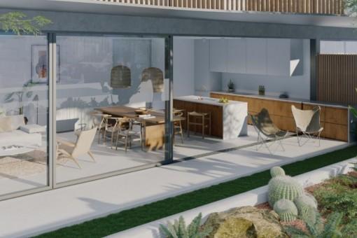 Erdgeschosswohnung im Neubau-Wohngebäude in Talamanca