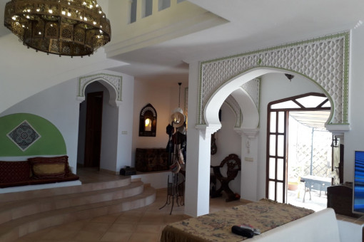 Offener Wohn- und Eingangsbereich