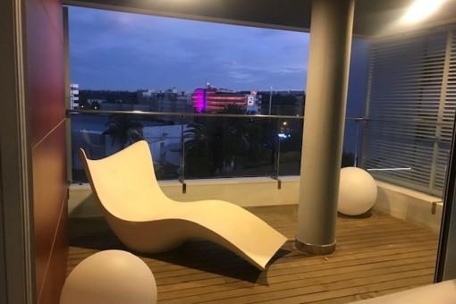 Ansicht vom Balkon