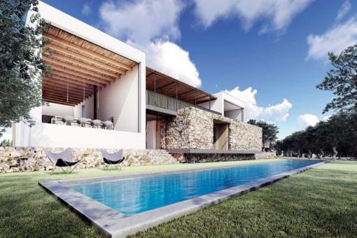 Grundstück mit Bauprojekt für 6 Villen in Can Furnet